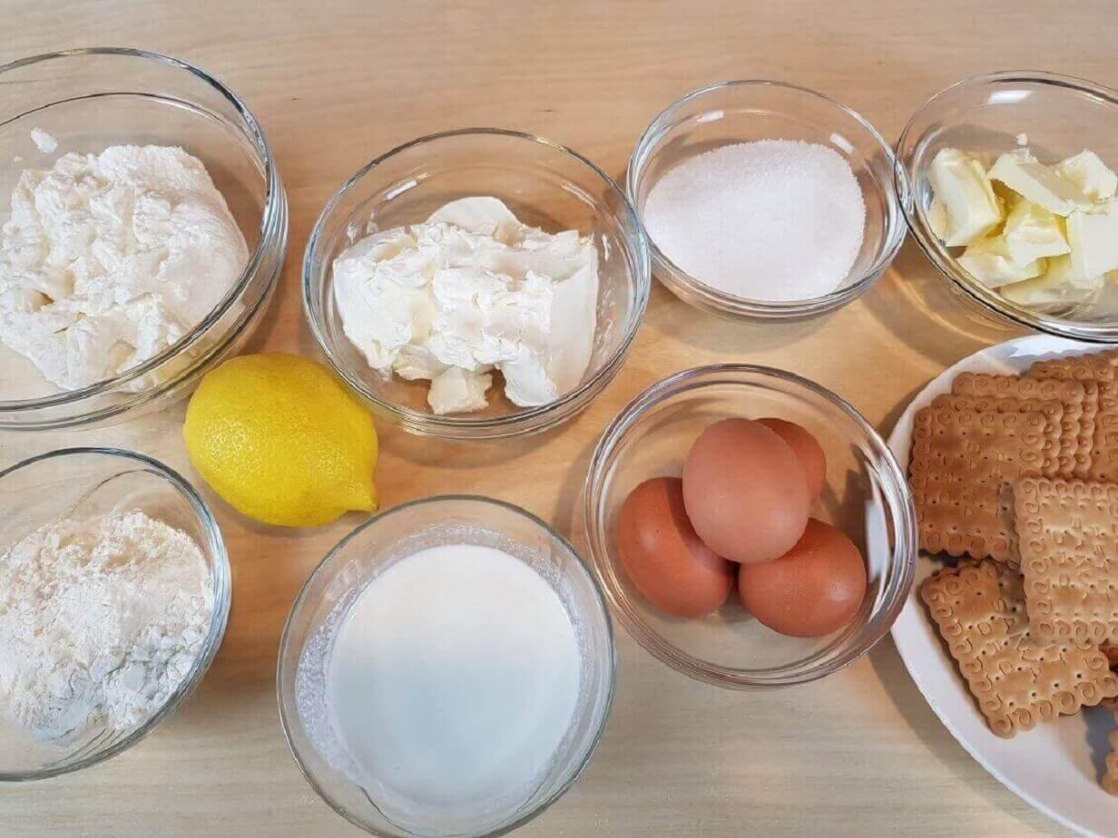 Ingredienti per Cheesecake alla fragola