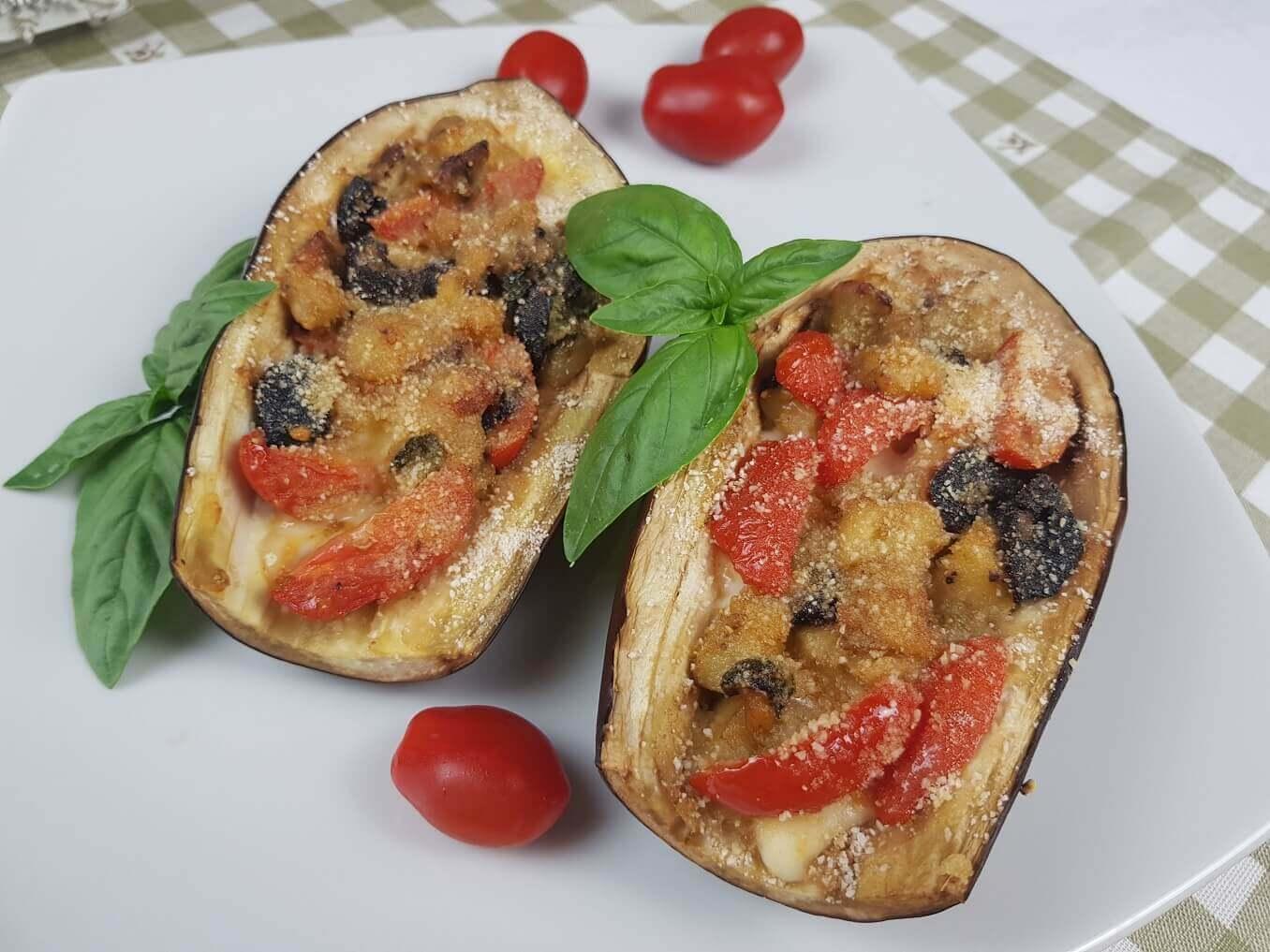 Melanzane ripiene al forno vegetariane