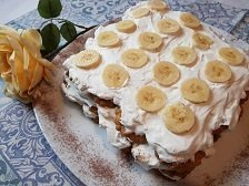 Video Torta fredda alle banane e panna
