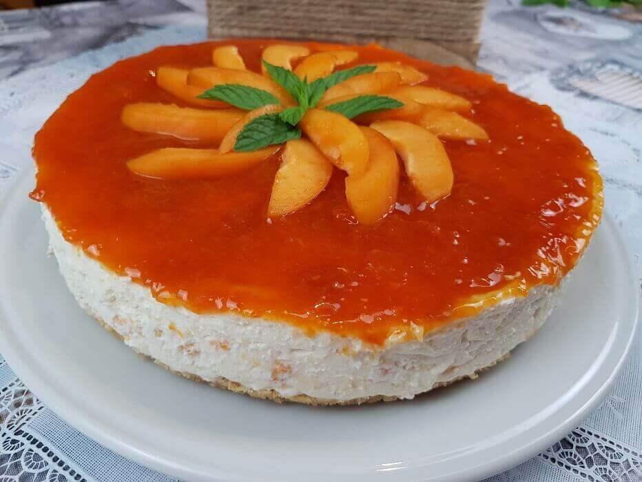 Cheesecake con Marmellata di Albicocche