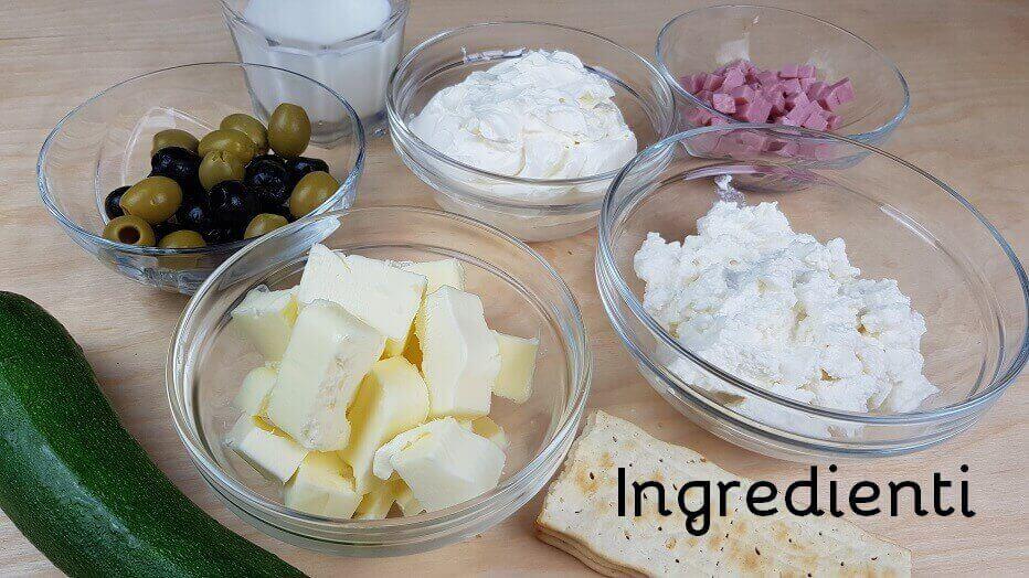 Ingredienti per Cheesecake salata