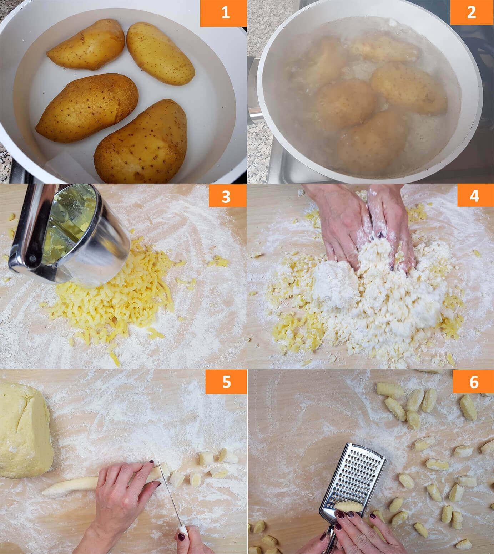 Preparazione e Impasto Patate per gli Gnocchi al Sugo di Carne