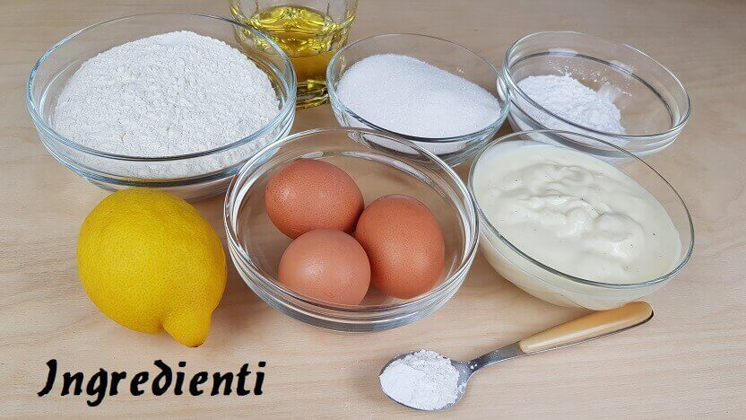 Ingredienti Torta con Yogurt