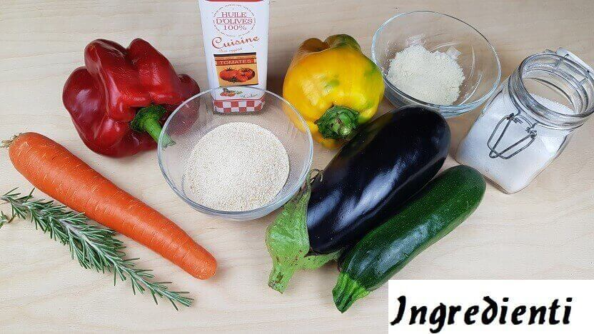 Ingredienti per Verdure Gratinate al Forno