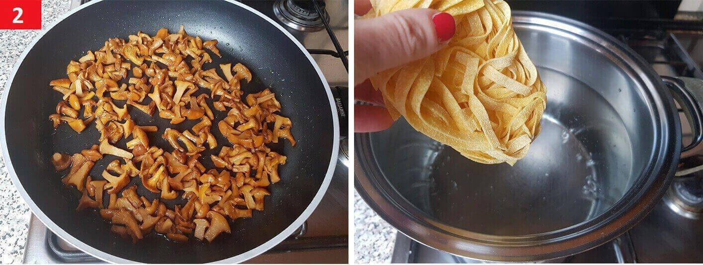 Nel Frattempo Cuocere la Pasta