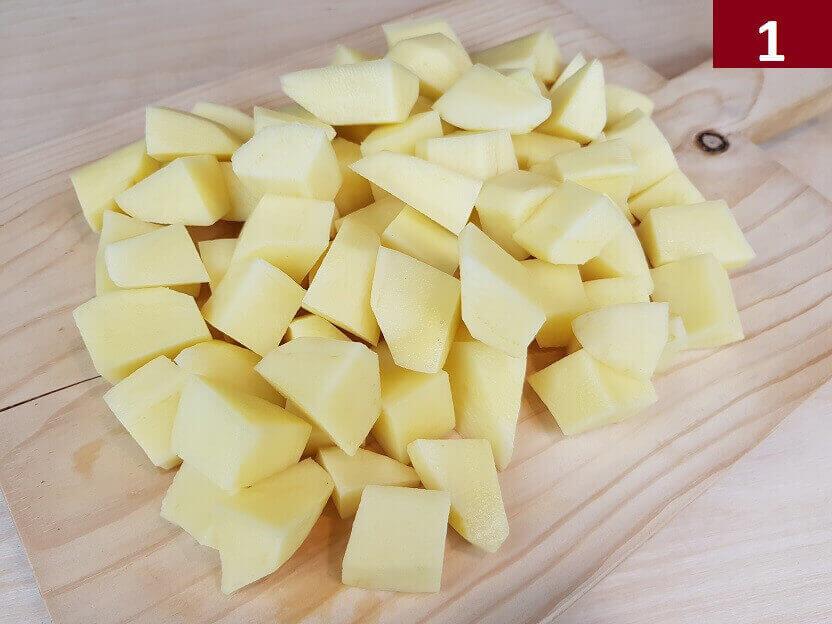 Patate Tagliate a Cubetti