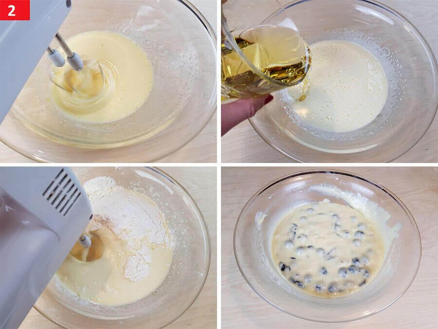 Amalgamare Uova Zucchero Farina e Uva Fragola