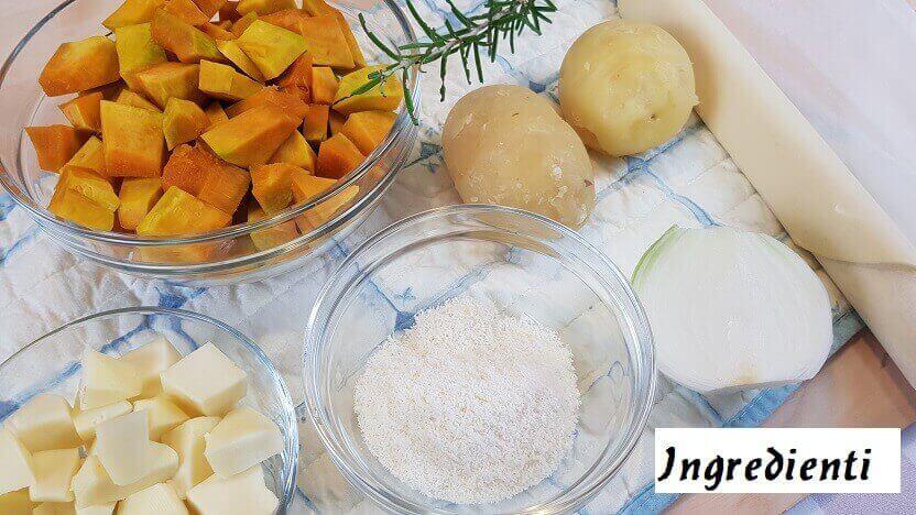 Ingredienti Torta Salata di Zucca e Patate di Halloween