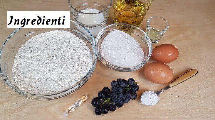 Ingredienti per Fare la Torta con Uva fragola