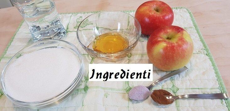 Ingredienti per le Mele Caramellate di Halloween