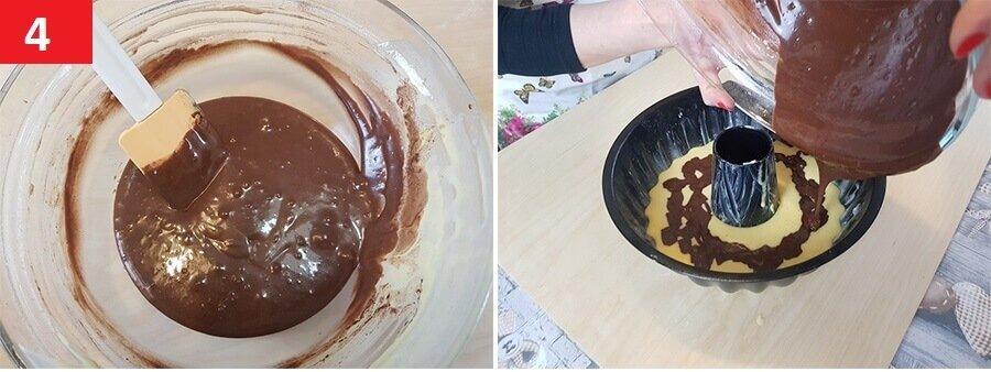 Ora Unire l'Impasto al Cacao