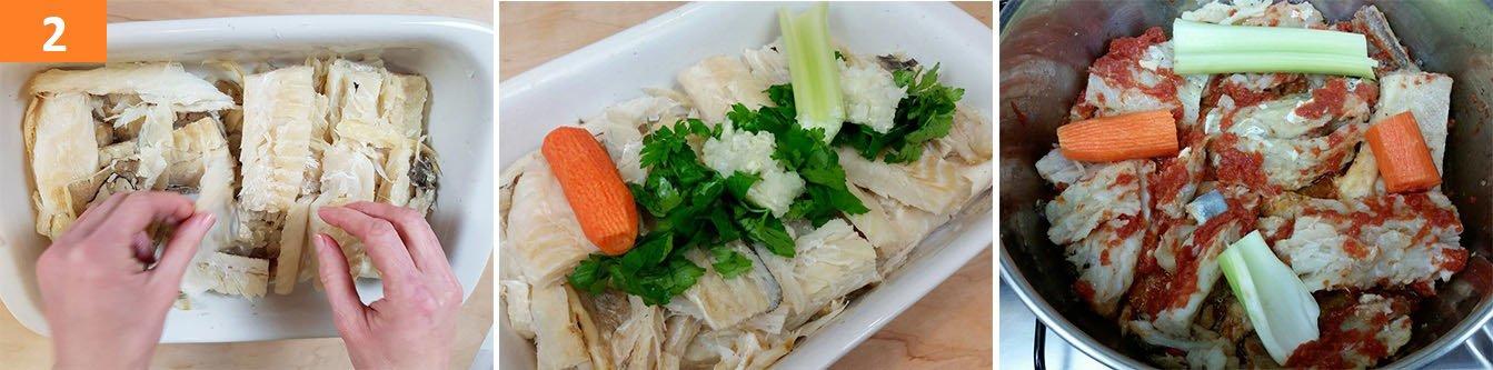 Cuocere con Cipolla Aglio e prezzemolo a Metà Cottura