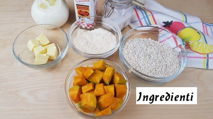 Ingredienti per Riso e Zucca