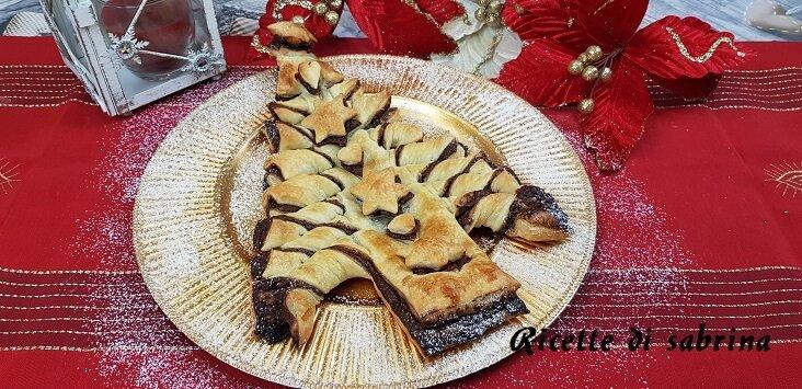 Ricetta Albero di Natale di Pasta Sfoglia con Nutella