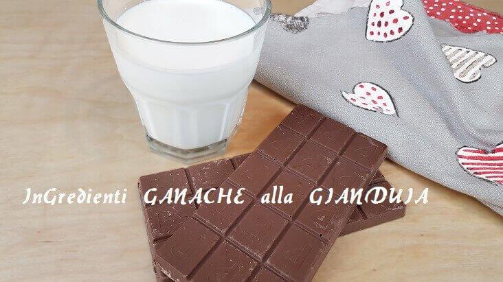 Ingredienti per fare la Ganache al Cioccolato