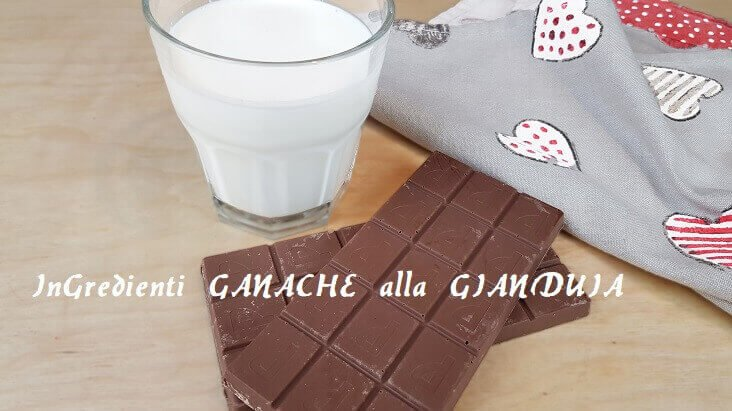 Ingredienti per fare la Ganache al Cioccolato