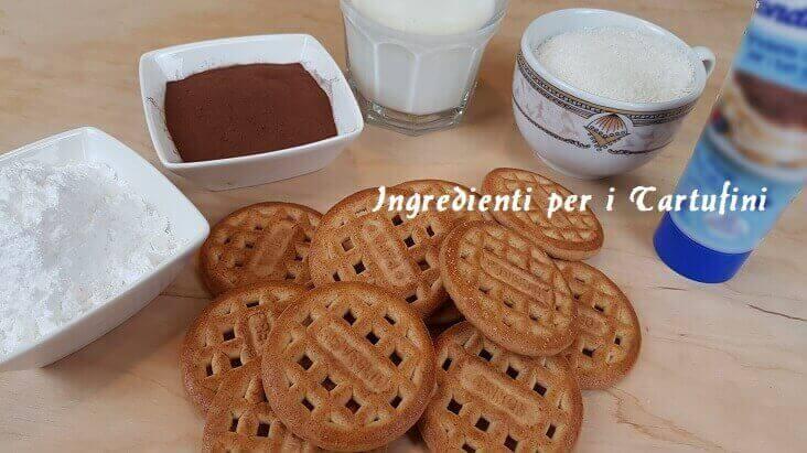 Ingredienti per i Tartufini al Cioccolato e Cocco