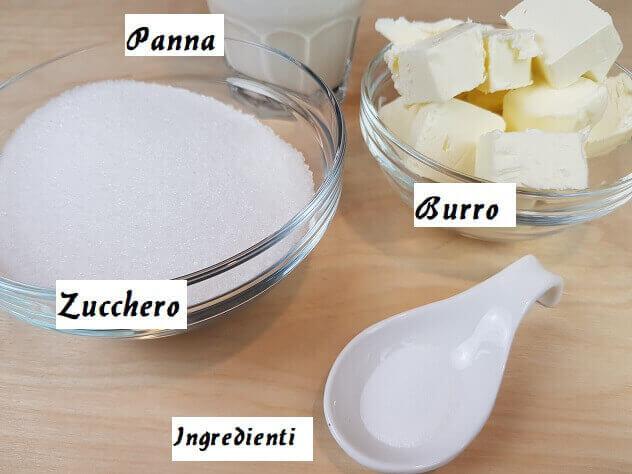 Ingredienti per il Caramello Salato