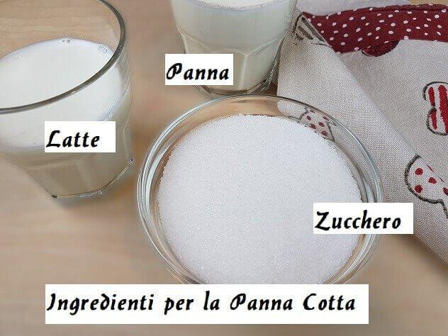 Ingredienti per la Panna Cotta
