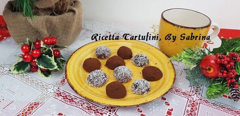 Tartufi Dolci al Cioccolato Ricoperti di Cocco