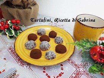 Tartufini al Cioccolato e Cocco