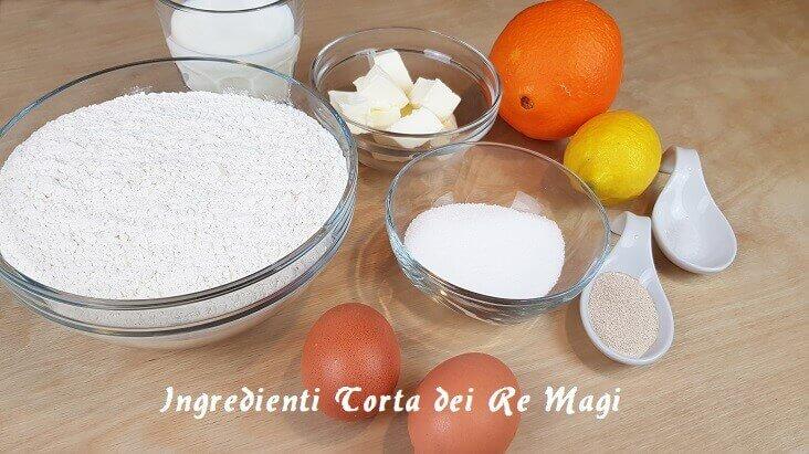 Ingredienti per la Preparazione del dolce dei Re Magi