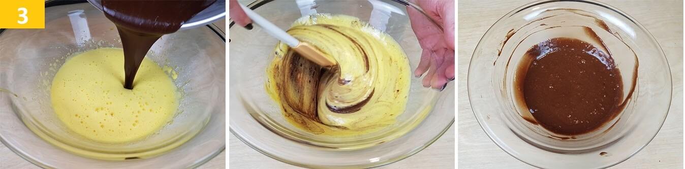 Unire il cioccolato al composto e mescolare