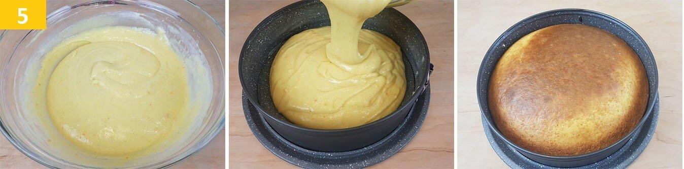 Versare l'Impasto nello Stampo, Cuocere e far Raffreddare