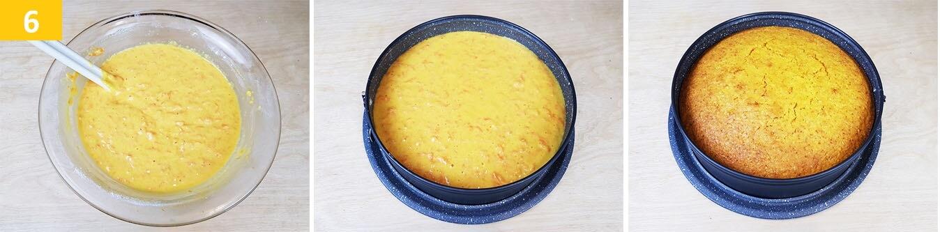 Versare il composto nella Tortiera e Cuocere