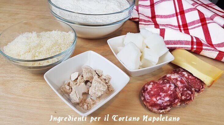 Ingredienti per il Tortano Napoletano