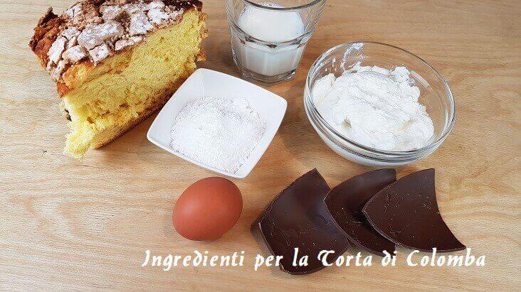 Ingredienti per la preparazione della Torta di Colomba