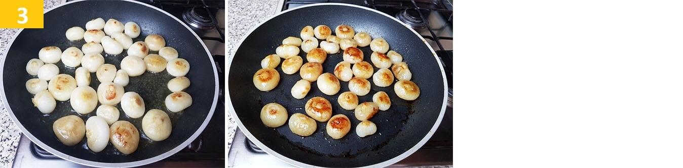 Portare a bollore e cuocere le Cipolle