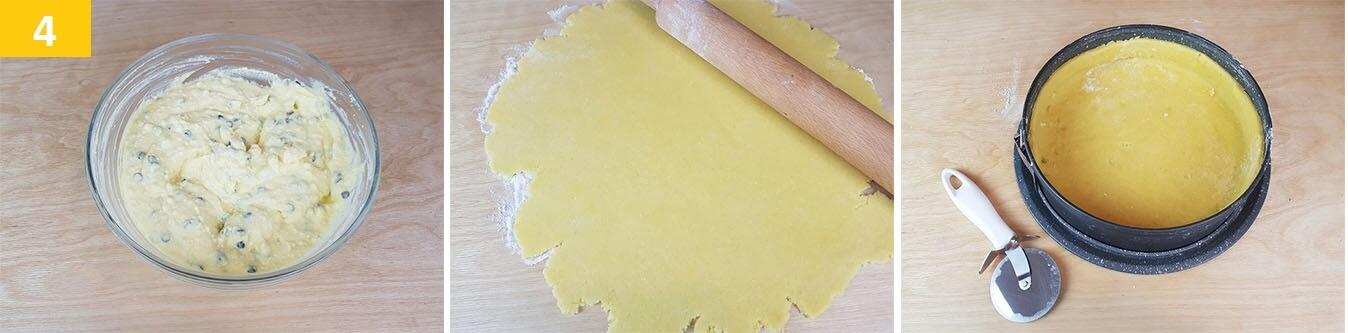 Stendere la Pasta Frolla e mettere nello Stampo