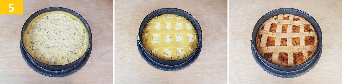 Versare la Crema, Decorare e Cuocere la Crostata