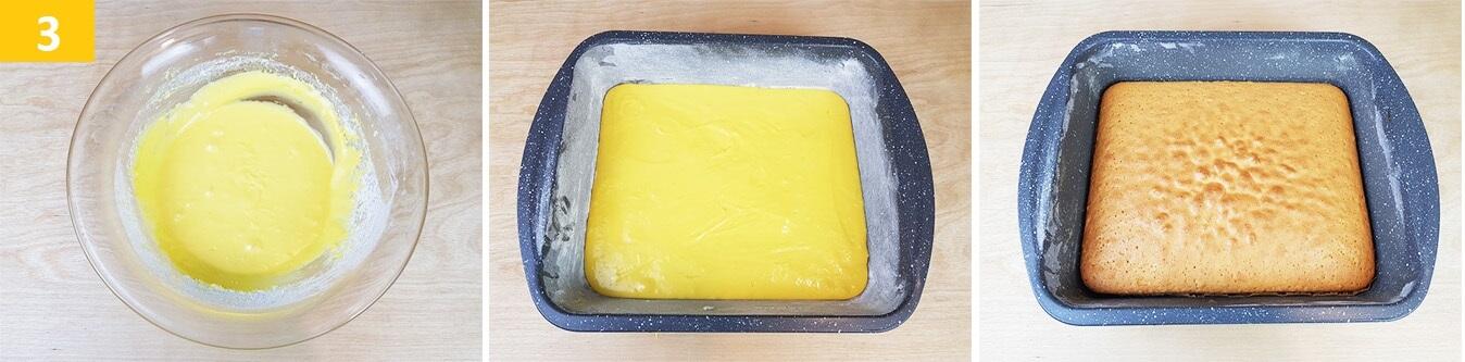 Versare l'impasto in una Teglia e fare Cuocere